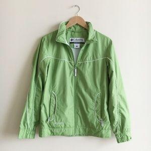 Columbia Green Windbreaker Jacket